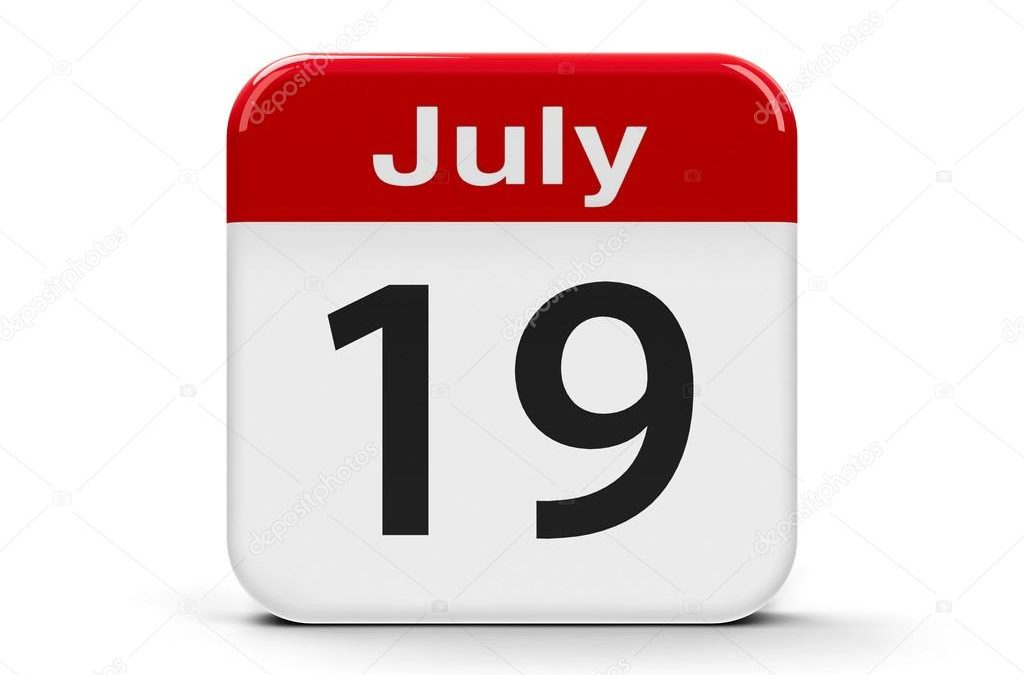 19th July 2019