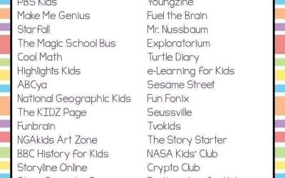 Useful websites to access at home!