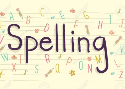 Spellings Spring term 1